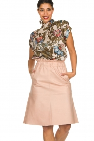 Dante 6 | Leather skirt Temari | pink  | Picture 2