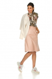 Dante 6 | Leather skirt Temari | pink  | Picture 4