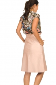 Dante 6 | Leather skirt Temari | pink  | Picture 6