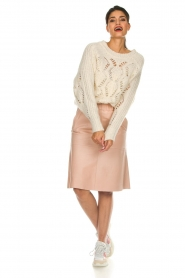 Dante 6 | Leather skirt Temari | pink  | Picture 3