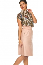 Dante 6 | Leather skirt Temari | pink  | Picture 5