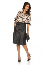 Dante 6 |  Leather skirt Temari | black  | Picture 3
