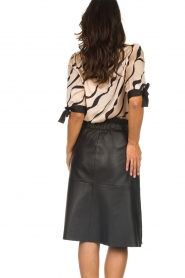 Dante 6 |  Leather skirt Temari | black  | Picture 5