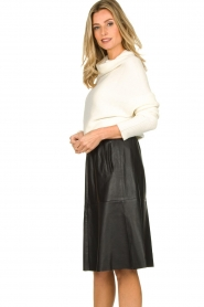 Dante 6 |  Leather skirt Temari | black  | Picture 4