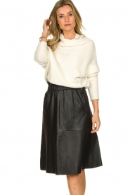 Dante 6 |  Leather skirt Temari | black  | Picture 6