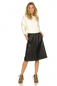 Dante 6 |  Leather skirt Temari | black  | Picture 3