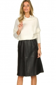 Dante 6 |  Leather skirt Temari | black  | Picture 2