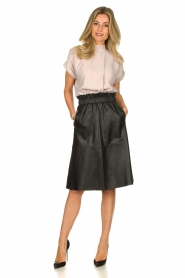 Dante 6 |  Leather skirt Temari | black  | Picture 7