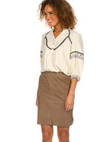 Dante 6 |  Suede skirt Jolijn | brown  | Picture 2