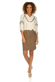 Dante 6 |  Suede skirt Jolijn | brown  | Picture 3