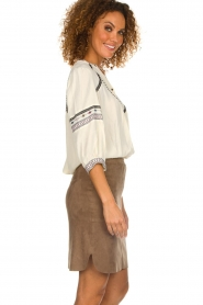 Dante 6 |  Suede skirt Jolijn | brown  | Picture 5