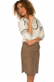 Dante 6 |  Suede skirt Jolijn | brown  | Picture 4