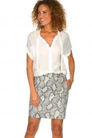 Dante 6 | Leather skirt Eshvi  | print  | Picture 2