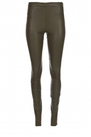Dante 6 |  Leather leggings Campbell | green  | Picture 1