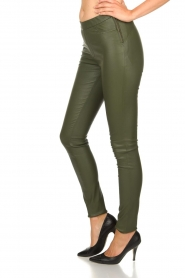 Dante 6 |  Leather leggings Campbell | green  | Picture 4