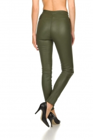 Dante 6 |  Leather leggings Campbell | green  | Picture 5