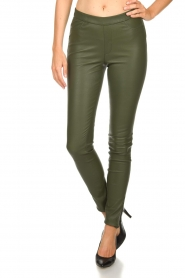 Dante 6 |  Leather leggings Campbell | green  | Picture 3