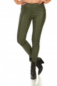 Dante 6 |  Leather leggings Campbell | green  | Picture 2