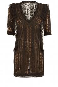 Kanten jurk Lark | zwart