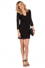 IRO | Kanten jurk Lark | zwart  | Afbeelding 3