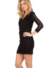 IRO | Kanten jurk Lark | zwart  | Afbeelding 4