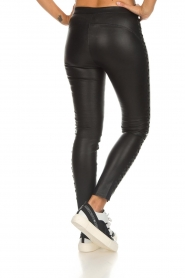 Dante 6 |  Leather pants with lace-up details Addict | black  | Picture 5