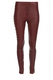 Dante 6 |  Leather pants with lace-up details Addict | bordeaux  | Picture 1