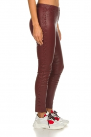 Dante 6 |  Leather pants with lace-up details Addict | bordeaux  | Picture 4
