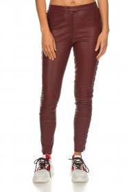 Dante 6 |  Leather pants with lace-up details Addict | bordeaux  | Picture 3