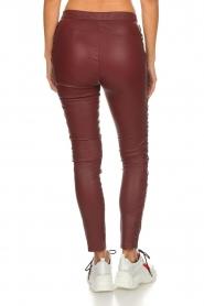 Dante 6 |  Leather pants with lace-up details Addict | bordeaux  | Picture 5