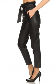 Dante 6 |  Leather trousers Duncan | black  | Picture 4