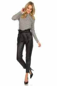 Dante 6 |  Leather trousers Duncan | black  | Picture 2
