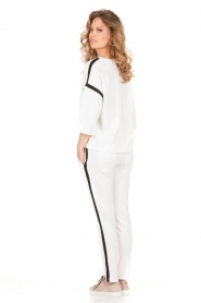 Sweatpants Stripe | white