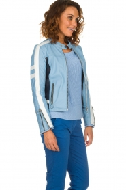 OAKWOOD | Leaher jacket Gigi | blue  | Picture 4