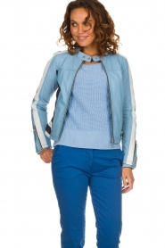 OAKWOOD | Leaher jacket Gigi | blue  | Picture 2