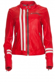 OAKWOOD | Leather jacket Joelle | red  | Picture 1
