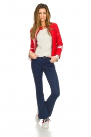 OAKWOOD | Leather jacket Joelle | red  | Picture 3