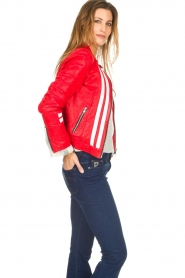 OAKWOOD | Leather jacket Joelle | red  | Picture 5
