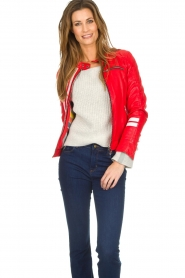 OAKWOOD | Leather jacket Joelle | red  | Picture 2