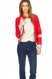 OAKWOOD | Leather jacket Joelle | red  | Picture 4