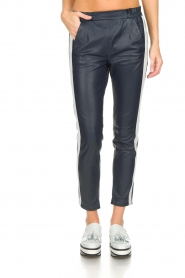 OAKWOOD | Leather pants Julie | blue  | Picture 3