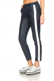 OAKWOOD | Leather pants Julie | blue  | Picture 4