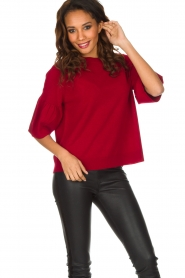 Hunkydory | Rode trui Molly Star | rood  | Afbeelding 4