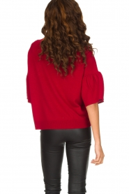 Hunkydory | Rode trui Molly Star | rood  | Afbeelding 6
