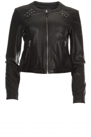 OAKWOOD | Leather jacket Manon | black  | Picture 1