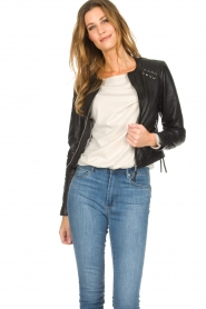 OAKWOOD | Leather jacket Manon | black  | Picture 4
