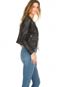 OAKWOOD | Leather jacket Manon | black  | Picture 5