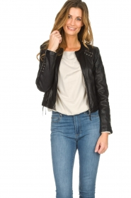 OAKWOOD | Leather jacket Manon | black  | Picture 2