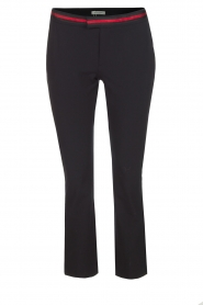 Pantalon Barre Zip | Zwart