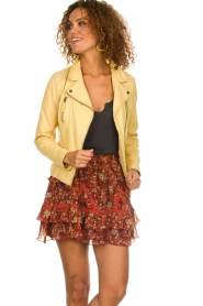 OAKWOOD | Leather jacket Roxanne | yellow  | Picture 4